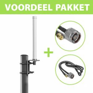 Voordeel pakket Compacte omnidirectionele antenne: 790-2700 MHz WIDEBAND